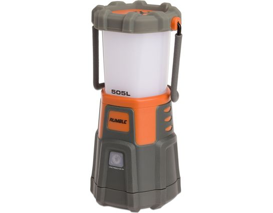 Browning Rumble Rechargeable Dual Fuel LED Lantern, Gray Polycarbonate Body with High Vis Orange, 550 Max Lumens