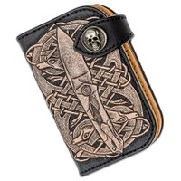 Custom Knife Factory Handmade Black Leather Clutch Wallet, DCPT-3