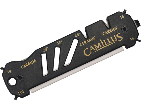 Camillus 19224 Glide Hook, Knife, and Shear Sharpener, Ceramic and Carbide