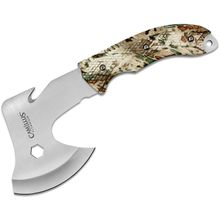 Camillus Rig Hatchet 11 inch Overall, 4 inch 420 Stainless Steel Axe Head, Prym1 Camo ABS Plastic Handles, Nylon Sheath