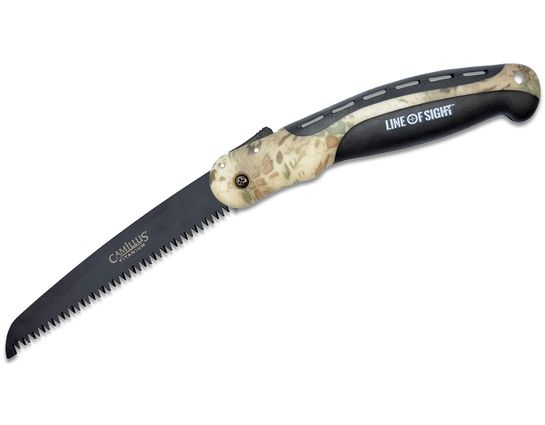 Camillus Line of Sight Folding Branch Saw, 15.25 inch Overall, Prym1 Camo AirShoc Handles