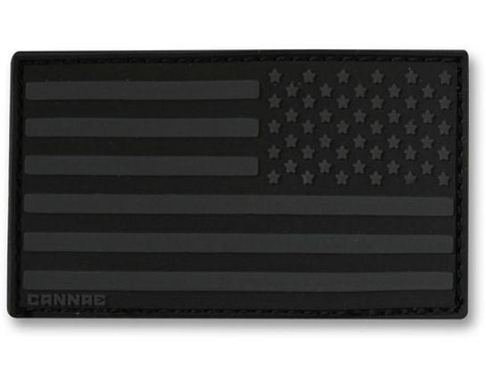 Cannae Pro Gear USA Velcro Patch, Right Arm, Black