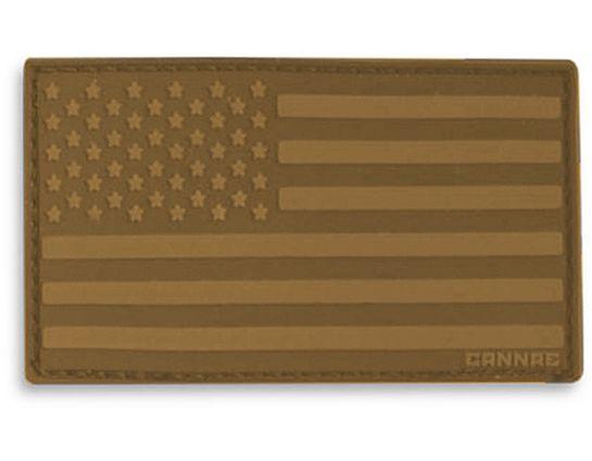Cannae Pro Gear USA Velcro Patch, Left Arm, Coyote