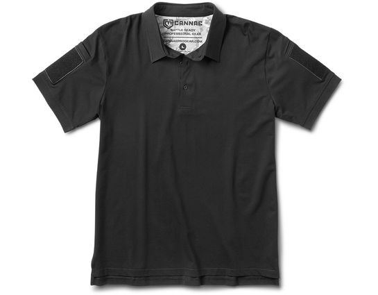 Cannae Pro Gear Professional Operator Cotton Polo, Short Sleeve, Black, Medium