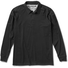 Cannae Pro Gear Professional Operator Cotton Polo, Long Sleeve, Black, 2XL