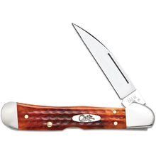 Case Pocket Worn Harvest Orange Bone Copperlock 4.25 inch Closed (61549WL SS)