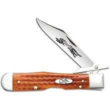 Case Pocket Worn Harvest Orange Bone Cheetah 4.38 inch Closed (6111 1/2 L SS)