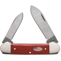 Case American Workman Red Synthetic Canoe Knife 3.625 inch Closed (42131 SS)