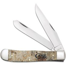 Case Smooth Natural Box Elder Trapper Pocket Knife 4.13 inch Closed (10254 SS)