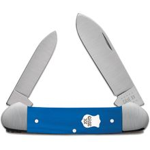 Case Smooth Blue G10 Canoe Pocket Knife 3.63 inch Closed (102131 SS)