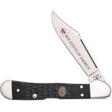 Case Boy Scouts of America Jigged Navy Blue Bone Mini CopperLock 3.625 inch Closed (61749L SS)
