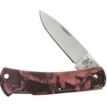 Case Pink Camo Case Caliber Small Lockback 3 inch Closed (LT1225L SS)