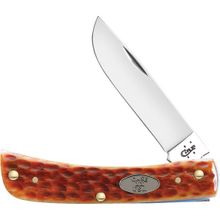 Case Pocket Worn Whiskey Bone Sod Buster Jr 3-5/8 inch Closed (6137 CV)