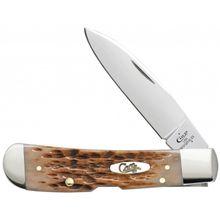 Case Tony Bose Peach Seed Jigged Amber Bone Tribal Lock 4.125 inch Closed (TB612010L SS)