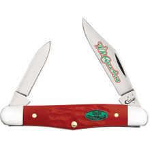 Case Christmas Rough Dark Red Synthetic Half Whittler 3-1/4 inch Closed (6208 SS)