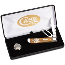 Case Golfer's Tool 3.5 inch Closed Gift Set, Smooth Antique Bone, Gift Box (6207G SS)