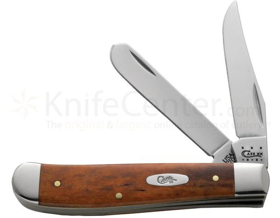 Case Smooth Chestnut Bone Mini Trapper 3-1/2 inch Closed (6207 SS)
