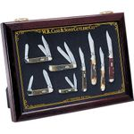 Case Large Cherry Wood Countertop Display Case 18 inch x 13 inch x 2 inch, Knives Not Included