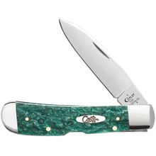 Case Green Sparkle Kirinite Tribal Lock 4.125 inch Closed (TB1012010L SS)