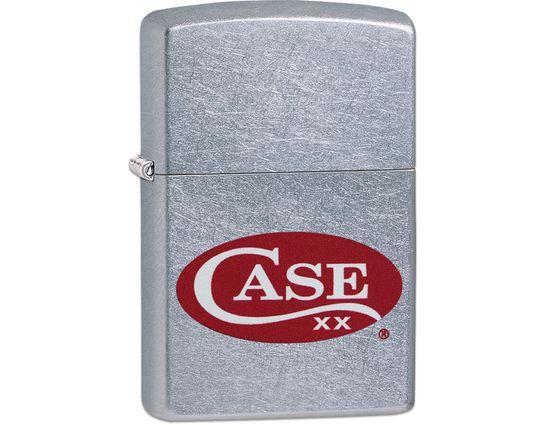 Case Zippo Lighter, Red Case Logo