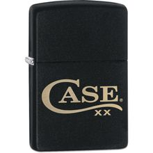 Case Zippo Black Matte Lighter, Case Logo