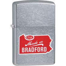 Case Zippo Street Chrome Lighter, Case Logo