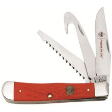 Case Boy Scouts of America Rough Red Synthetic Hunter Trapper 4-1/8 inch Closed (6354GS SS)