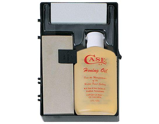 Case Sportsman's Honing Kit 924, 2 Arkansas Stones and Honing Oil