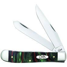 Case Jungle Green Camo Kirinite Trapper Pocket Knife 4.13 inch Closed (10254 SS)