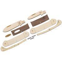 Case Wooden Pocket Knife Kit, Canoe, Dark Wood Handles, Gift Box/Tin