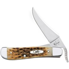 Case Amber Bone RussLock 4-1/4 inch Closed (61953L SS)