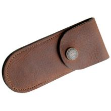 Case Soft Leather Sheath, Brown, 5 inch Closed
