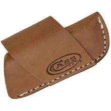 Case Side Draw Leather Belt Sheath, Brown