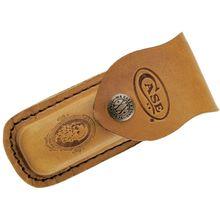 Case Medium Job Case Leather Sheath, Brown, 5 inch Closed