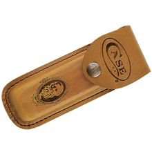 Case Large Job Case Leather Sheath, Brown, 5.75 inch Closed