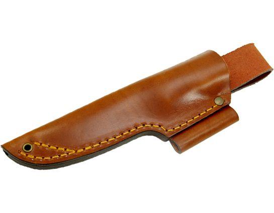 Casstrom Sweden No.10 SFK Leather Sheath with Fire Steel Holder, Cognac Brown