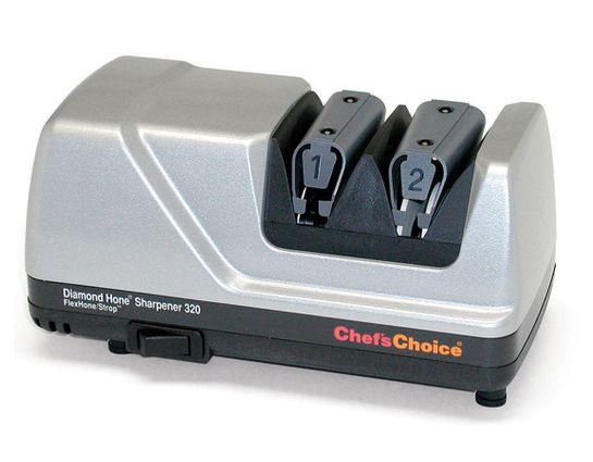 Chef's Choice Diamond Hone FlexHone/Strop Professional Electric Knife Sharpener Model 320P, Platinum