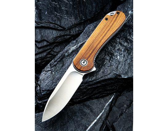 CIVIVI Knives C907C Elementum Flipper Knife 2.96 inch D2 Satin Blade, Rosewood Handles