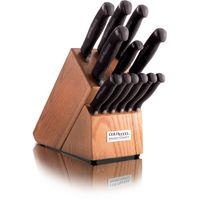 Cold Steel 59KSSET 13 Piece Kitchen Classic Block Set, Kray-Ex Handles
