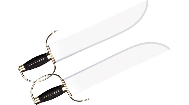 Cold Steel 88BF Butterfly Swords 15 inch Carbon Steel Blade, Cord Wrapped Handle