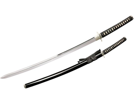 Cold Steel Emperor Series Double Edge Katana 28.75 inch Carbon Steel Blade, Lacquered Wood Scabbard