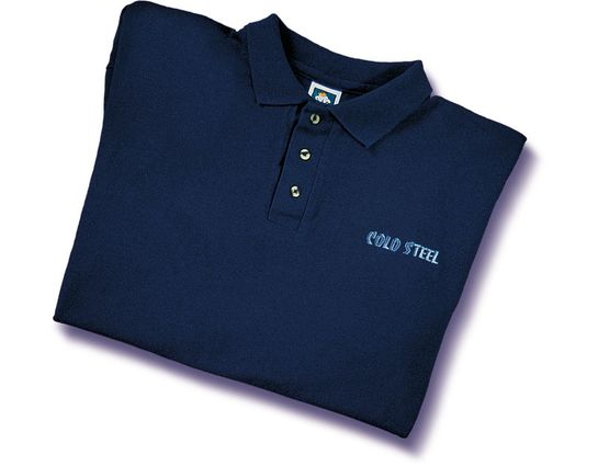 Cold Steel TPB1 Polo Shirt, Blue, M