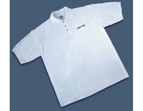 Cold Steel TPW1 Polo Shirt, White, M