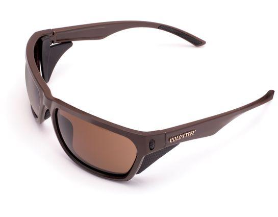 Cold Steel EW33M Battle Shades Mark-III Eyewear, Matte Brown Sunglasses