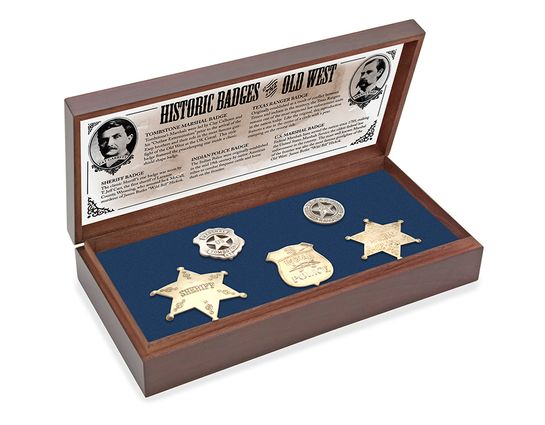 Old West Boxed Badge Collection