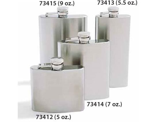Concord 9 oz. Mirage Satin Finish Stainless Steel Flask