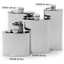Concord 8 oz. Mirror Polish Stainless Steel Flask