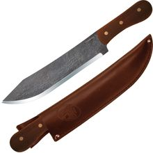 Condor Tool & Knife CTK240-8.5HC Hudson Bay Camp Knife 8-1/2 inch Carbon Steel Classic Blade, Hardwood Handle, Leather Sheath