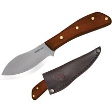 Condor Tool & Knife CTK230-4HC Nessmuk Camp Knife 4 inch Carbon Steel Satin Blade, Hardwood Handle, Leather Sheath
