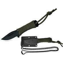 Condor Tool & Knife CN304HC Fidelis Neck Knife 2-3/16 inch Carbon Steel Black Blade, Paracord Wrapped Handle, Kydex Sheath
